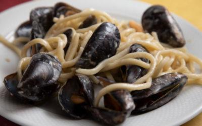 Lombrichi Cacio Pepe e Cozze – La Fontanella