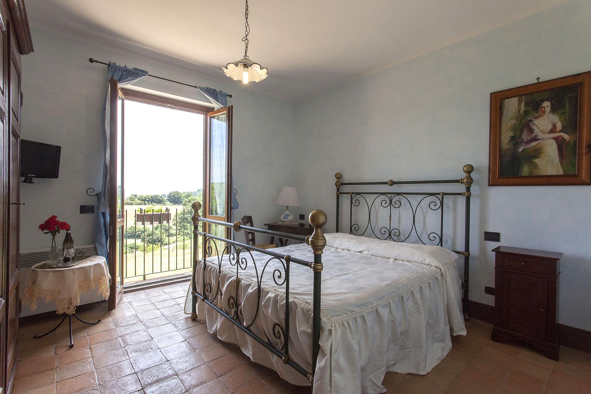 Camera matrimoniale all'agriturismo La Gismonda di Bracciano