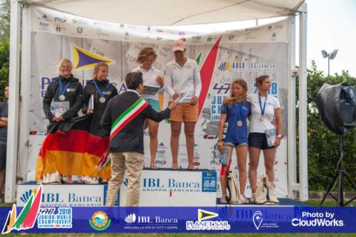Premiazione Campionato Mondiale di Vela Classe 470 10