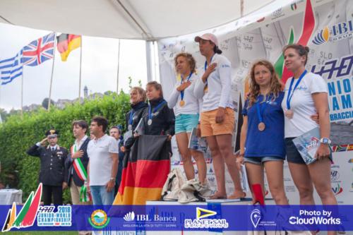 Premiazione Campionato Mondiale di Vela Classe 470 16