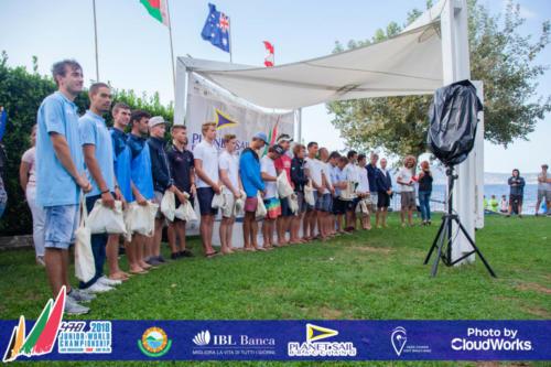 Premiazione Campionato Mondiale di Vela Classe 470 21