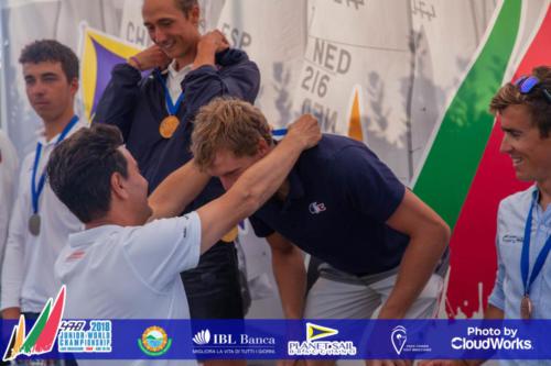 Premiazione Campionato Mondiale di Vela Classe 470 30