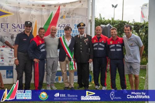 Premiazione Campionato Mondiale di Vela Classe 470 4