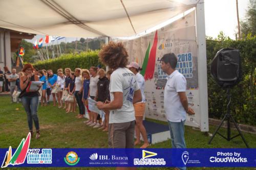 Premiazione Campionato Mondiale di Vela Classe 470 5