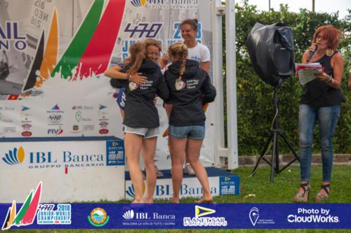 Premiazione Campionato Mondiale di Vela Classe 470 6