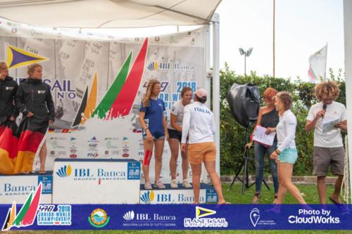 Premiazione Campionato Mondiale di Vela Classe 470 7