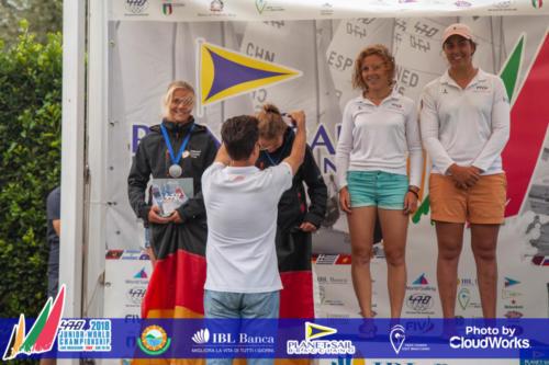Premiazione Campionato Mondiale di Vela Classe 470 9
